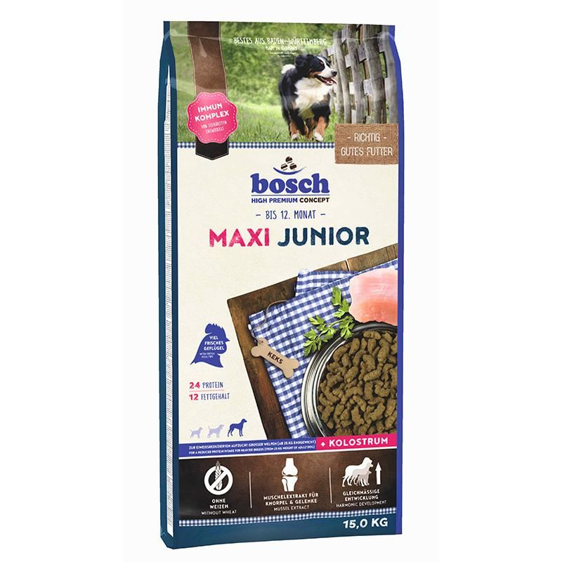 Bosch Maxi Junior Tahılsız Köpek Maması 15 Kg
