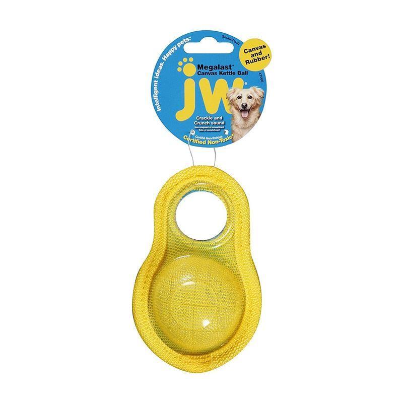 Jw Megalast Kettle Canvas Plastik Top Köpek Oyuncağı Medium