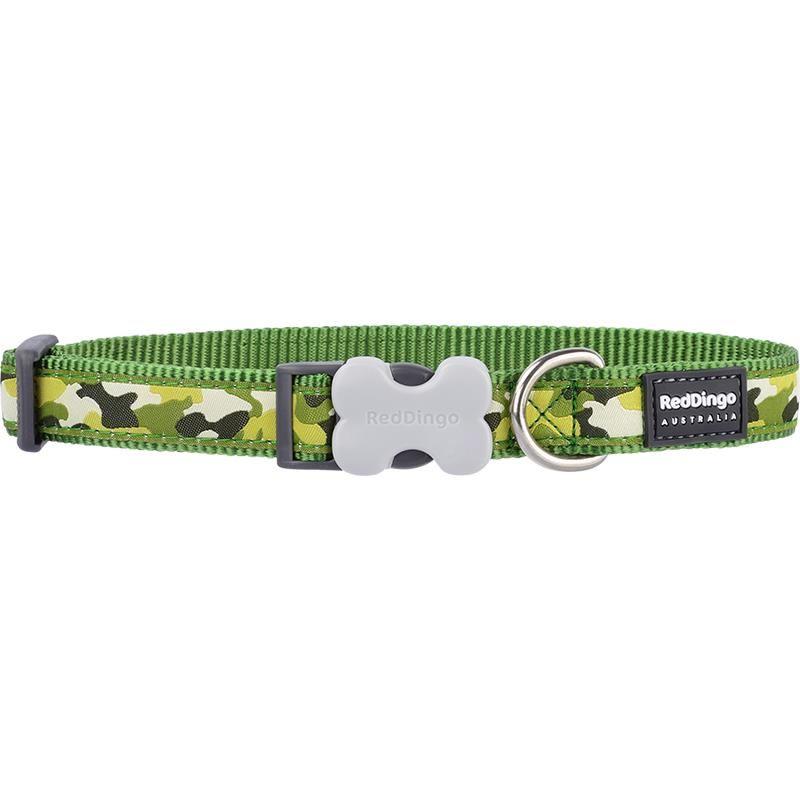 Reddingo Kamuflaj Desenli Yeşil Köpek Boyun Tasması 20 Mm