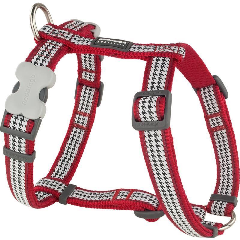 Reddingo Fang It Desenli Kırmızı Köpek Göğüs Tasması 20 Mm