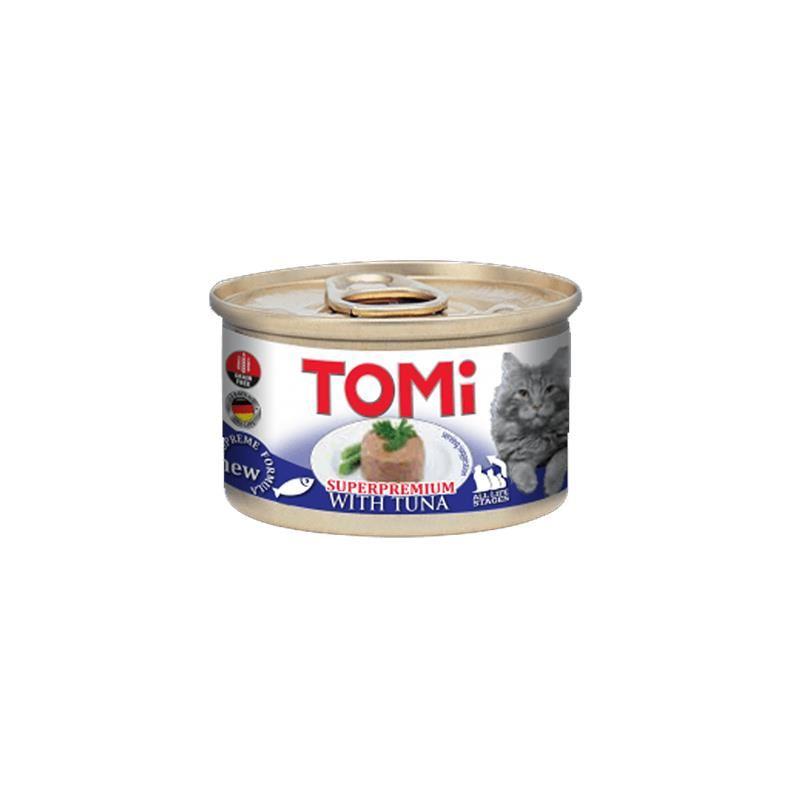 Tomi Superpremium Ton Balıklı Tahılsız Kedi Konservesi 85 Gr
