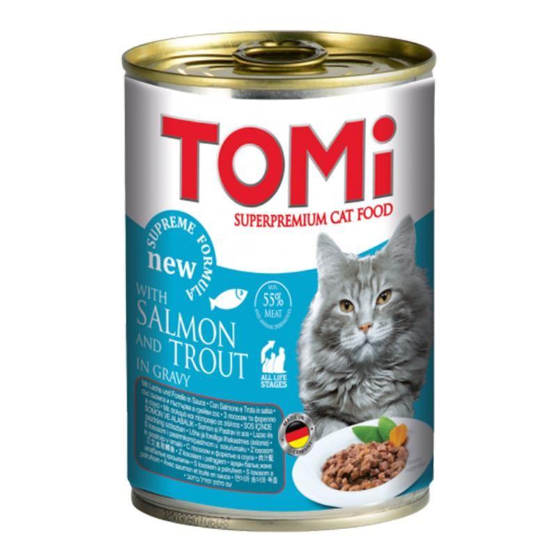 Tomi Alabalık ve Somonlu Kedi Konservesi 400 Gr