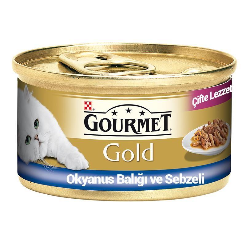 Gourmet Gold Çifte Lezzet Okyanus Balıklı ve Sebzeli Kedi Konservesi 85 gr