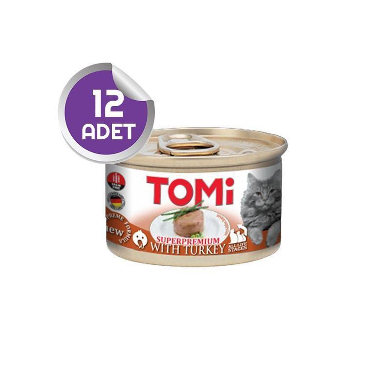Tomi Hindi Etli Tahılsız Kedi Konservesi 85 Gr 12 ADET