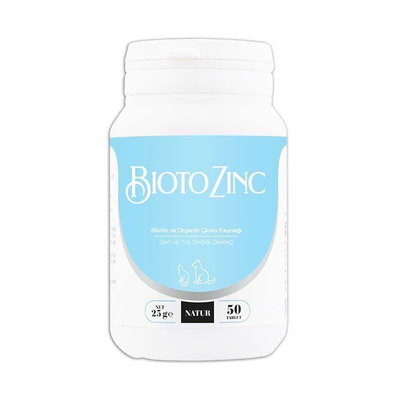 Natur BiotoZinc Biotin Çinko Köpek ve Kedi Vitamin Tableti 50 Tablet