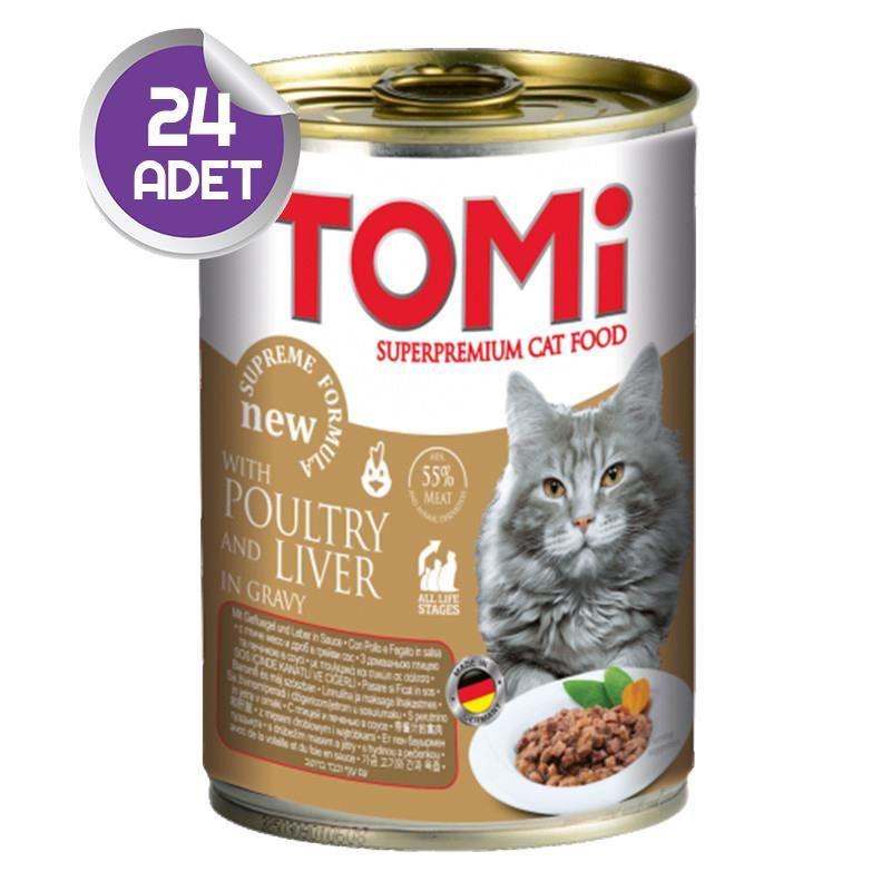 Tomi Kaz ve Ciğerli Kedi Konservesi 400 Gr 24 ADET