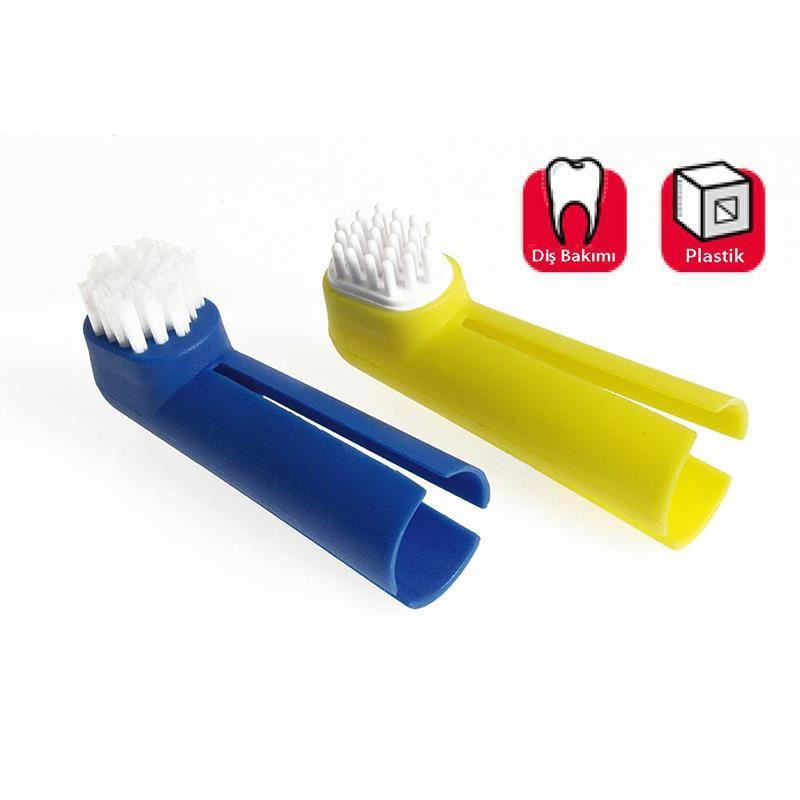 Karlie Köepkeler İçin  Diş Fırçası ve Diş Eti Masaj Fırça Seti 2li