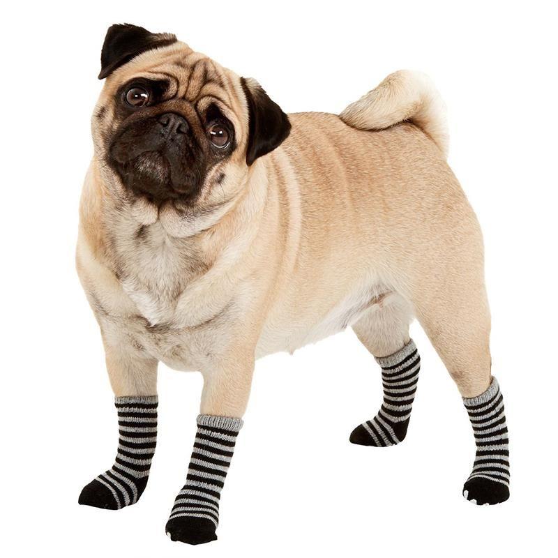 Karlie Köpek Çorabı 4lü Large 59x50mm Gri-Siyah