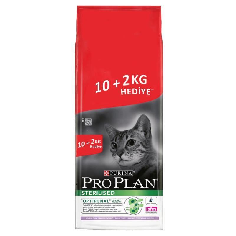 Proplan Sterilised Hindili Kedi Maması 10+2 Kg HEDİYE