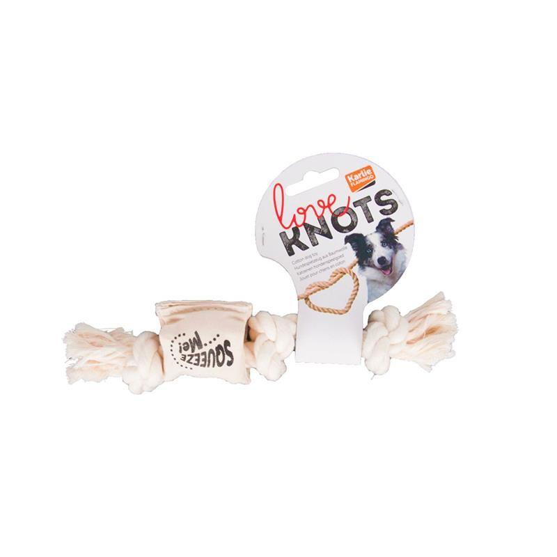 Karlie Köepkler İçin Öten Stres İpi 22 Cm Beyaz