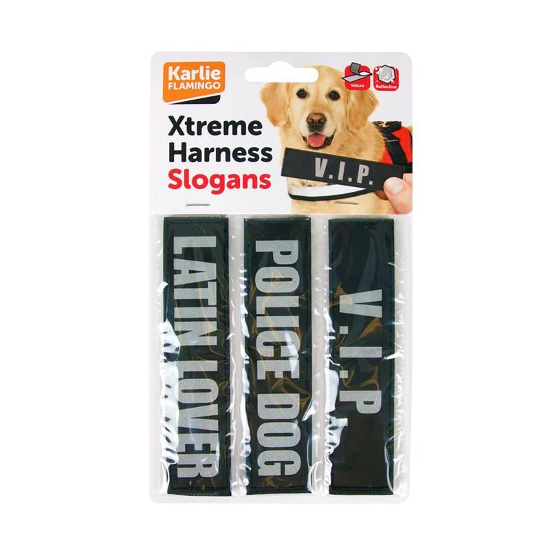 Karlie Erkek Köpek Xtreme Göğüs Tasma Slogan Seti