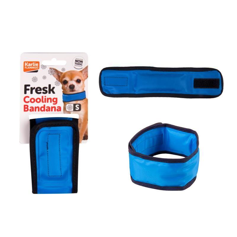 Karlie Soğutucu Köpek Boyun Bağı Small 15-25 Cm Mavi