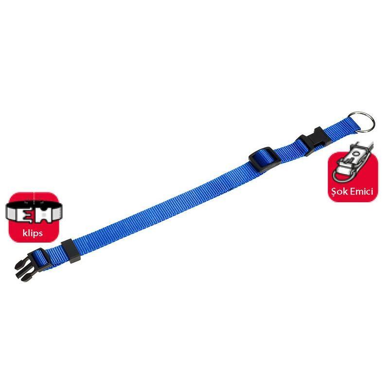 Karlie Köpek Boyun Tasması 45-65cm Mavi