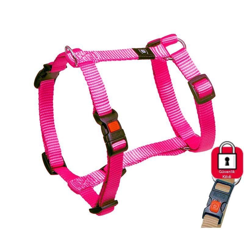 Karlie Kilitli Köpek Göğüs Tasması XLarge 90-120cm Pembe