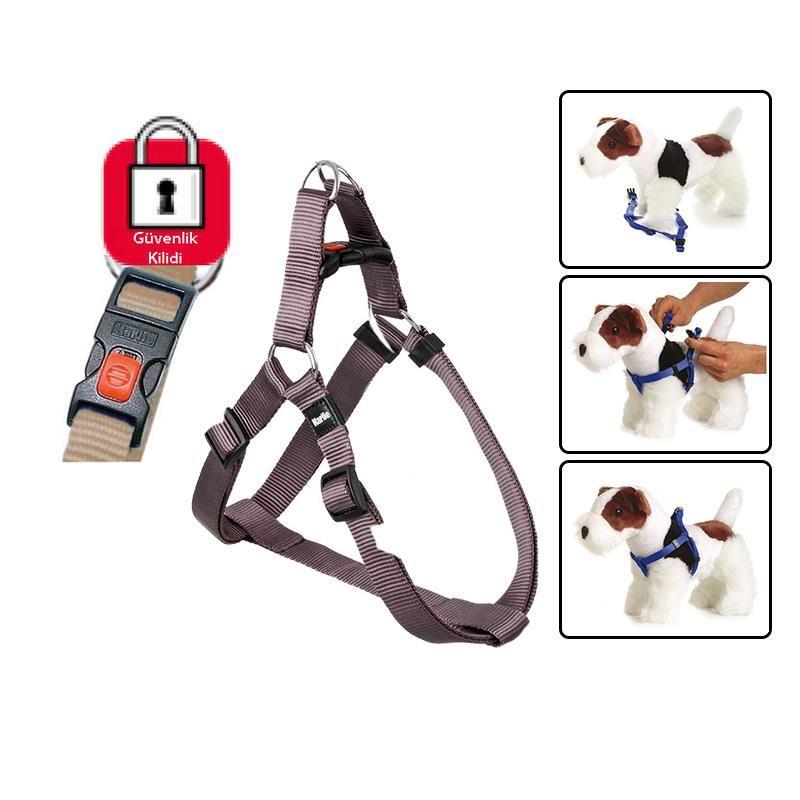 Karlie Art Sportiv Kilitli Köpek Göğüs Tasması Small/Medium 35-60cm Kahverengi