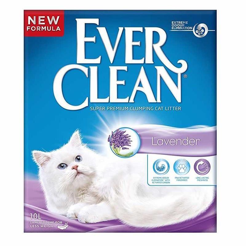Ever Clean Lavender / Lavanta Kokulu Topaklaşan Kedi Kumu 10 Lt