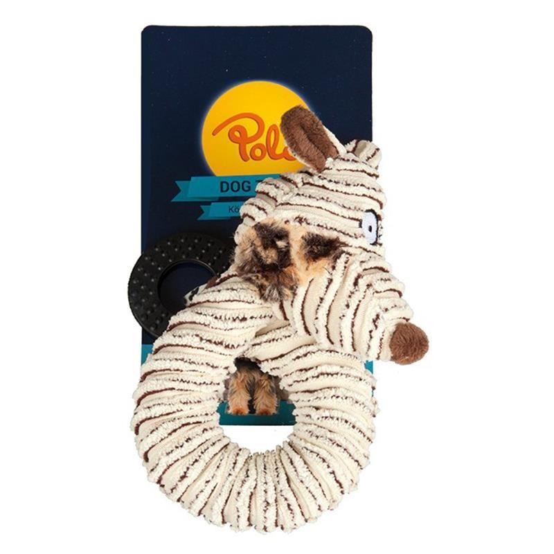 Polo Halka Şekilli Peluş Hayvan Köpek Oyuncağı 42 Cm