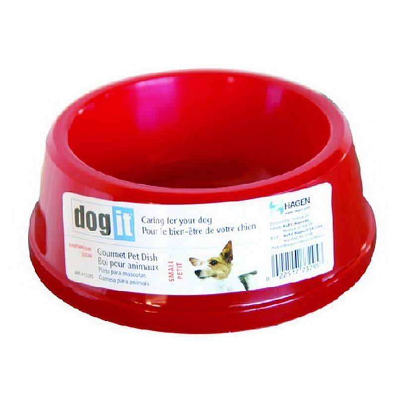 Dogit 73305 Plastik Mama-Su Kabı Kırmızı (Orta) /Cocker
