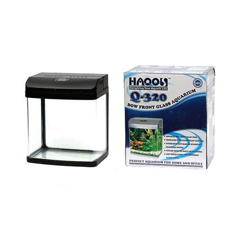 Haqos Q-320 Tatlı Su Akvaryumu Siyah 32 Cm