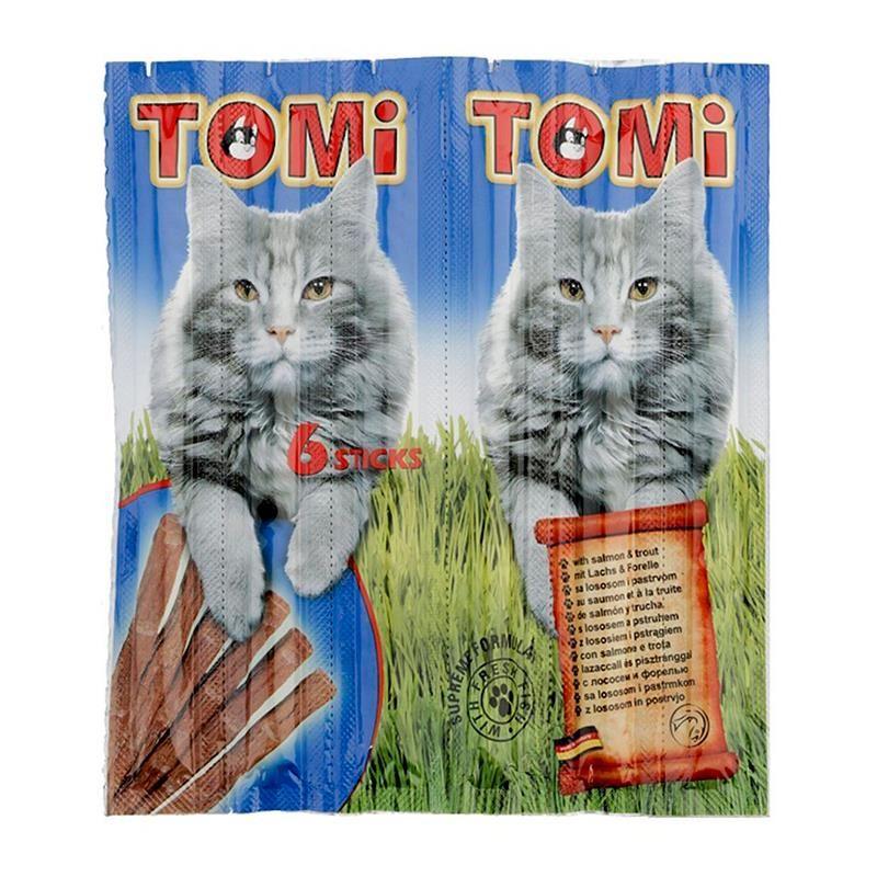 Tomi Somonlu ve Alabalıklı Kedi Çubuk Ödül 6x25 Gr