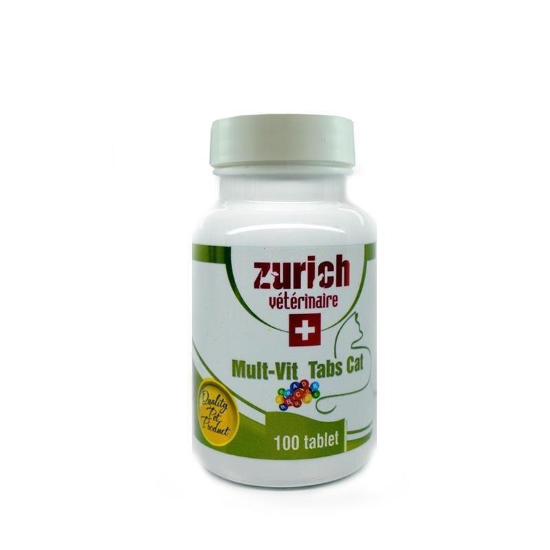 Zurich Multivitamin Kedi Tableti 100 Tablet