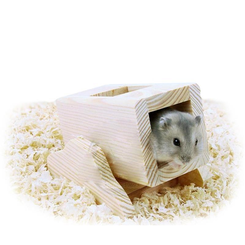 Carno Hamster Oyuncağı Naturel Ahşap Kutulu Tahterevalli