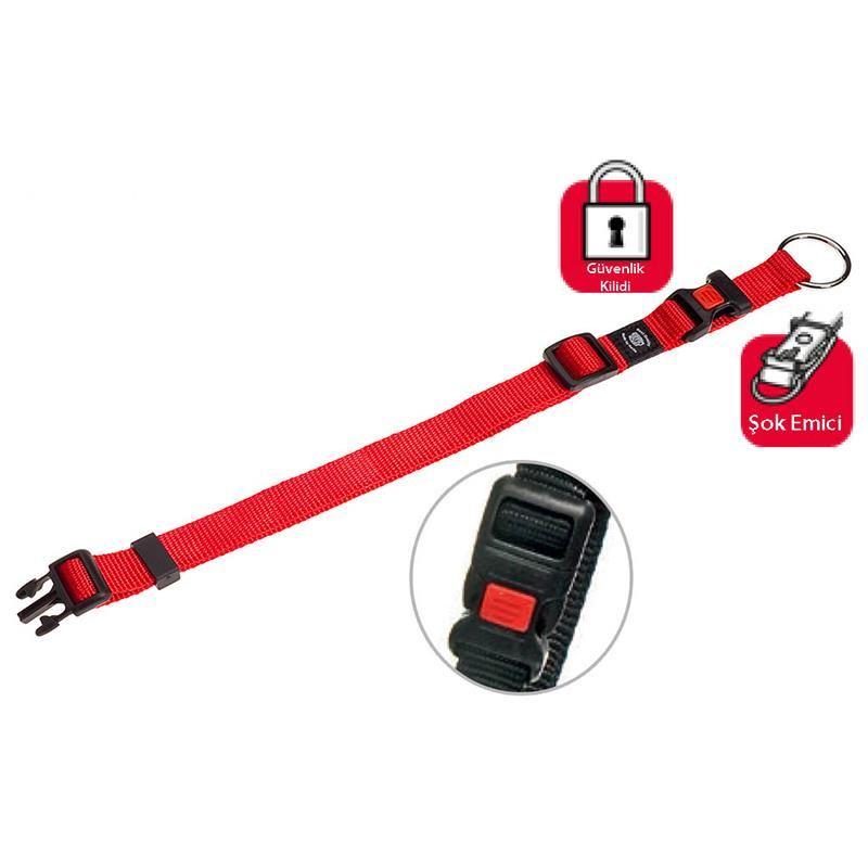 Karlie Art Sportiv Plus Köpek Kilitli Boyun Tasması XLarge 40 mm/55-75 Cm Kırmızı