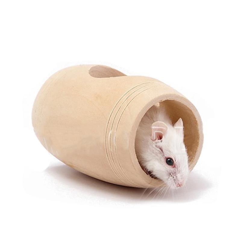 Carno Hamster Oyuncağı Naturel Ahşap Varil