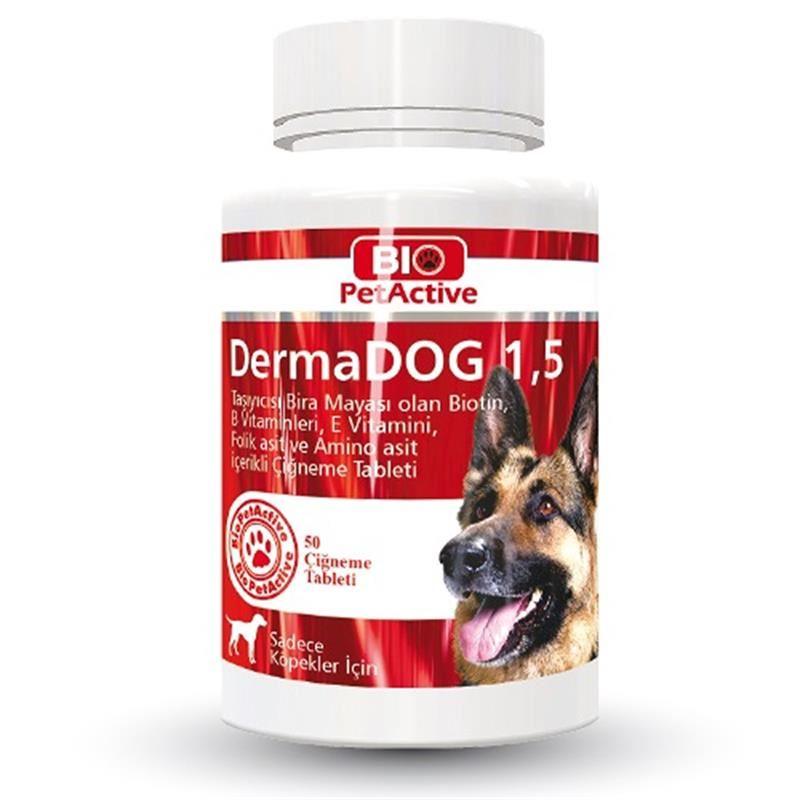 Bio Pet Active DermaDog Sarımsaklı Maya Çiğneme Tableti 100 Adet