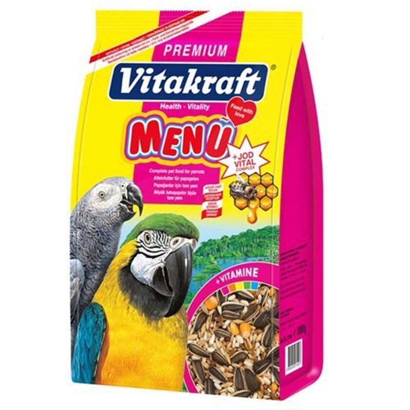 Vitakraft Premium Menü Jod Vital Papağan Yemi 1 Kg