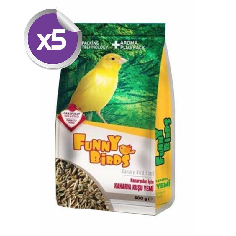 Funny Birds Kanarya Yemi 500 Gr x 5 Adet