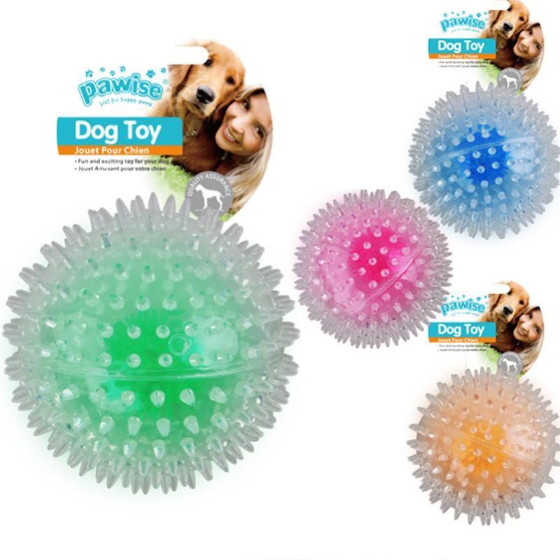 Pawise Flash Bouncer Ball Işıklı Şeffaf Plastik Top Köpek Oyuncağı 12 cm