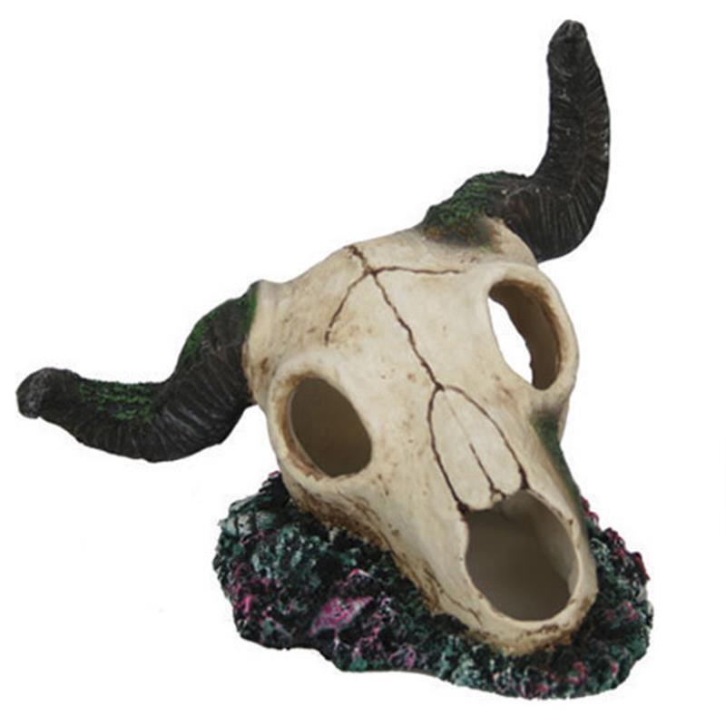 Chicos Akvaryum Dekoru Öküz Kuru Kafası 18X15,5X14,5 Cm