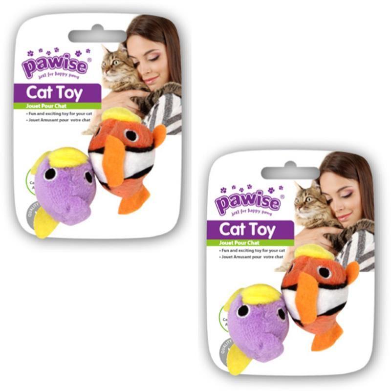 Pawise Balık Kedi Oyuncağı İkili
