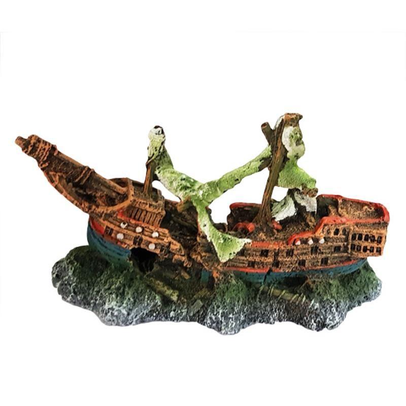 Chicos Akvaryum Dekoru Batık Gemi 22,4x9x12 Cm