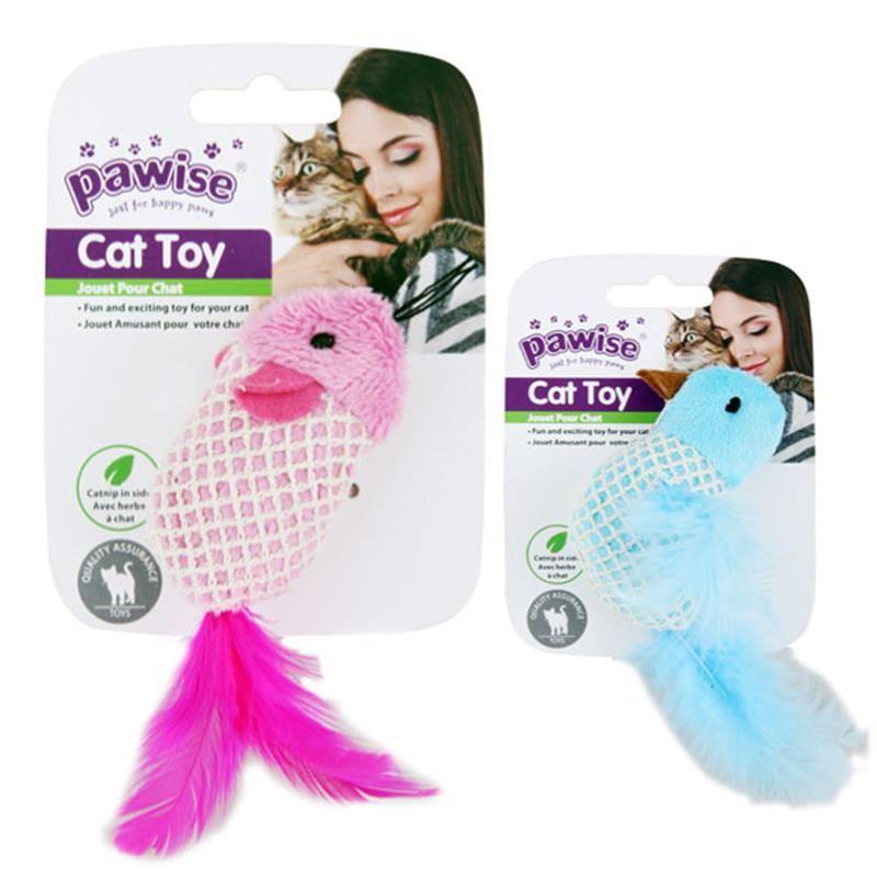Pawise Catnipli Peluş Fare Kedi Oyuncağı 10 cm