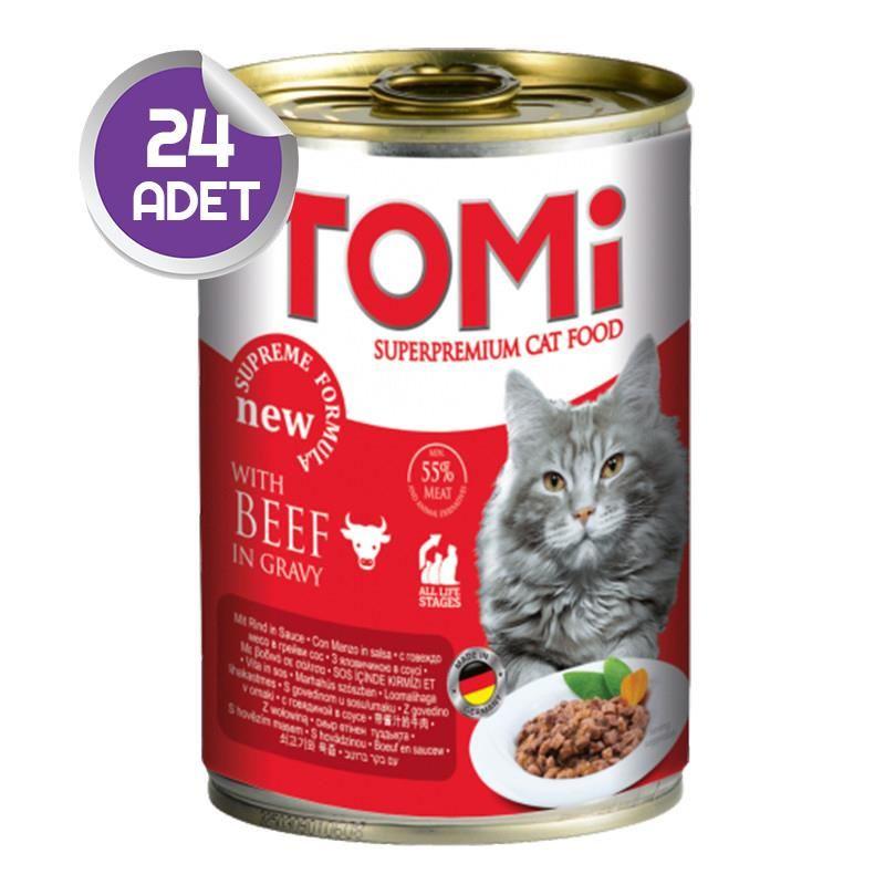 Tomi Sığır Etli Kedi Konservesi 400 Gr x24 ADET