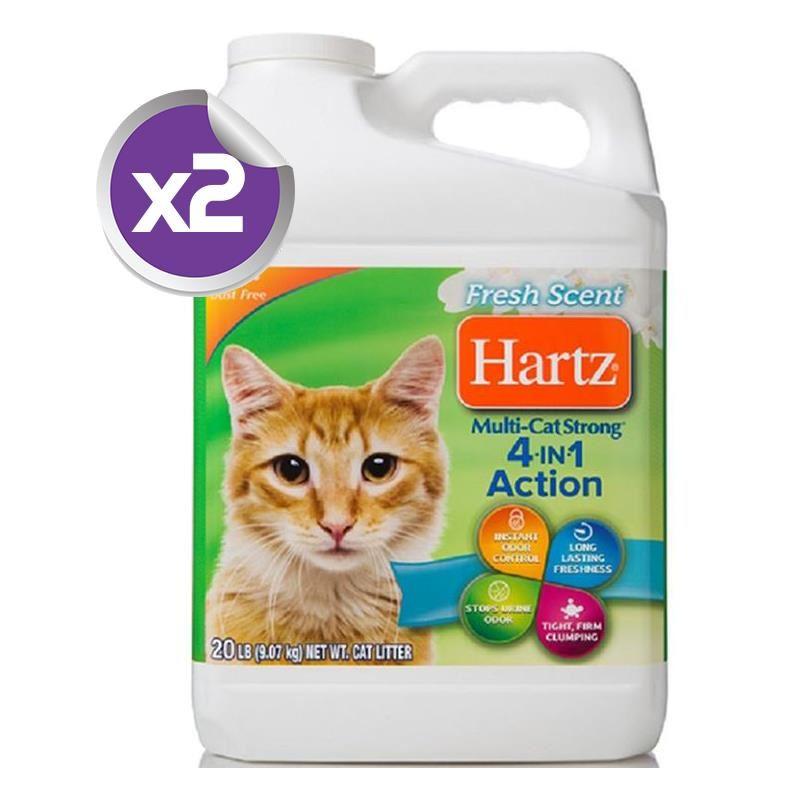 Hartz Yüksek Emici Fresh Topaklanan Kedi Kumu 9,07 Kg x2 ADET