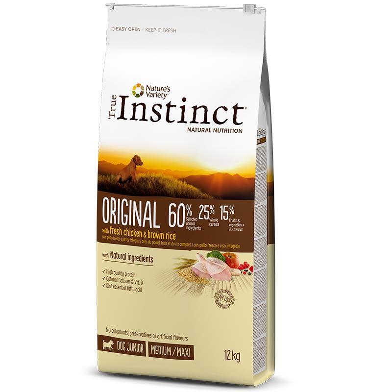 Instinct Original Tavuklu Orta ve Büyük Irk Yavru Köpek Maması 12 Kg