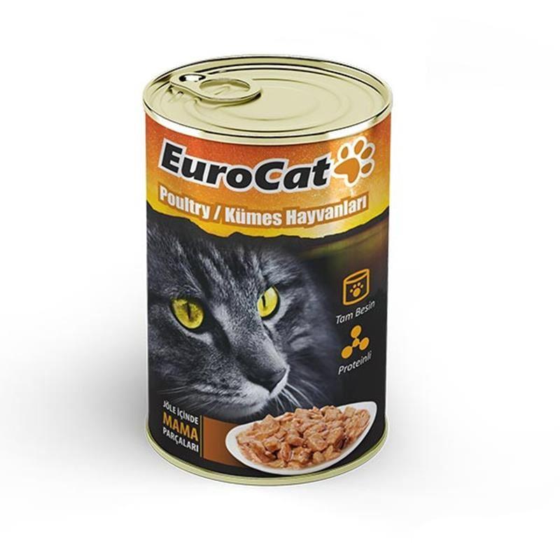 EuroCat Kedi Konservesi Kümes Hayvanlı 415 Gr