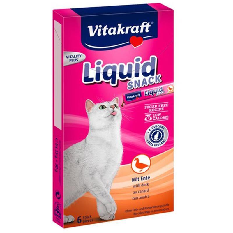 Vitakraft Ördek ve Beta Glucans Katkılı Sıvı Kedi Ödül 90 Gr