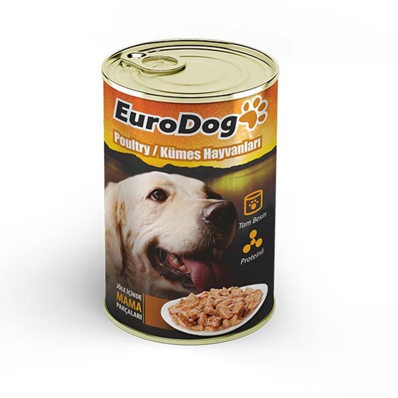 EuroDog Köpek Konservesi Kümes Hayvanları 415 Gr