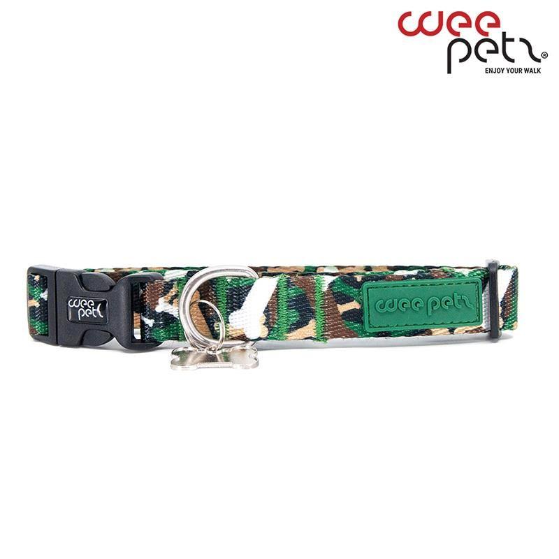 WeePetz Green Camo Collar Köpek Boyun Tasması Medium