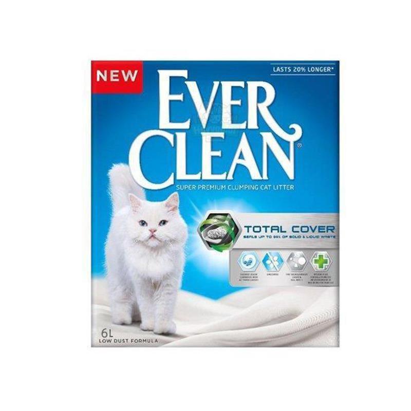 Ever Clean Total Cover Koku Önleyici Kedi Kumu 6 lt