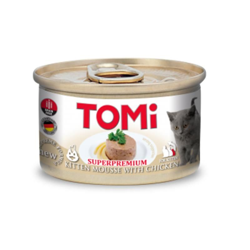 Tomi Superpremium Tavuklu Tahılsız Yavru Kedi Konservesi 85 Gr