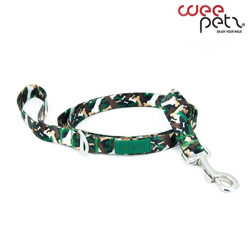 WeePetz Green Camo Leash Köpek Gezdirme Tasması Small