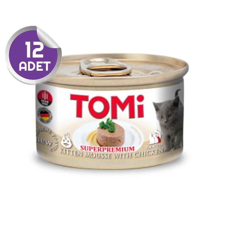Tomi Tavuklu Tahılsız Yavru Kedi Konservesi 85 Gr 12 ADET