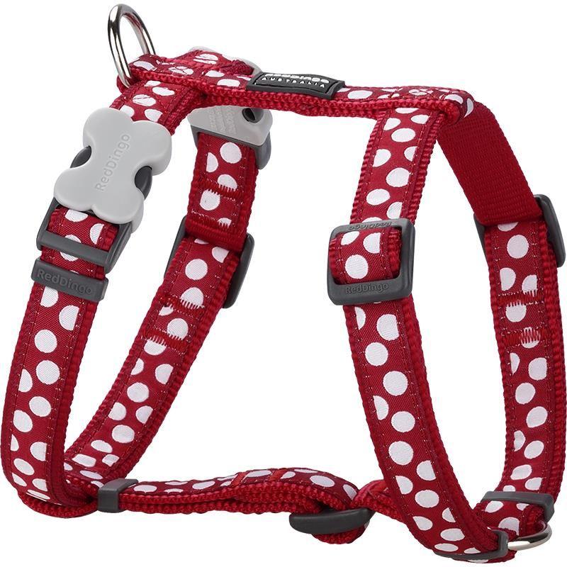 Reddingo Kırmızı Üzerine Beyaz Benekli Köpek Göğüs Tasması 15 Mm