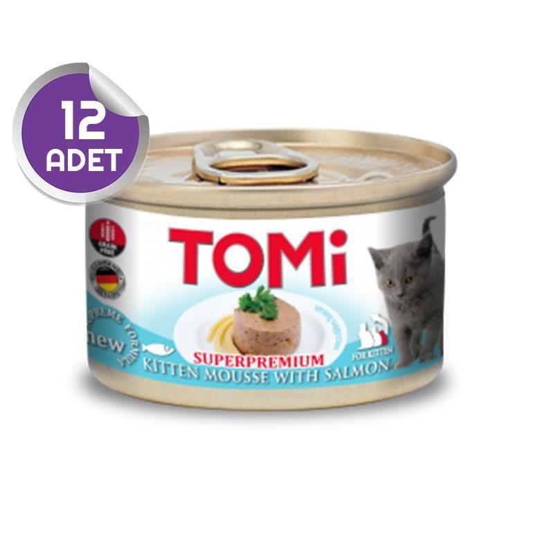 Tomi Somonlu Tahılsız Yavru Kedi Konservesi 85 Gr 12 ADET