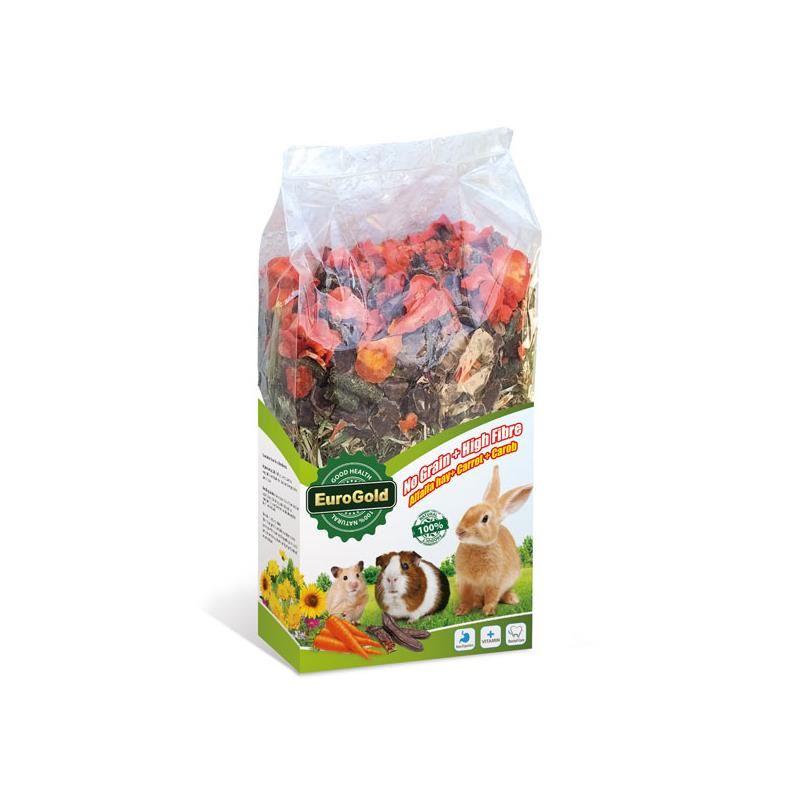 Eurogold Tahılsız Keçiboynuzu Ve Havuç Karışımı Kemirgen Yemi 400 gr